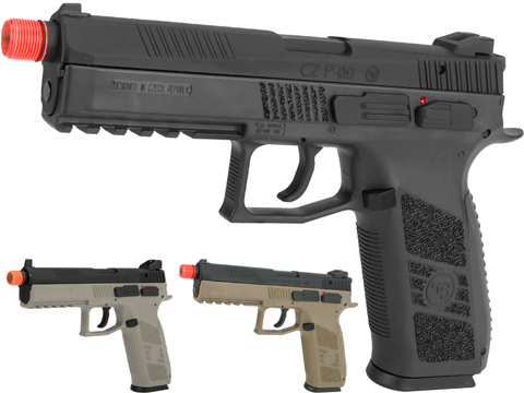 ASG CZ P-09 Suppressor Ready CO2 Airsoft GBB Pistol (Color: Black)