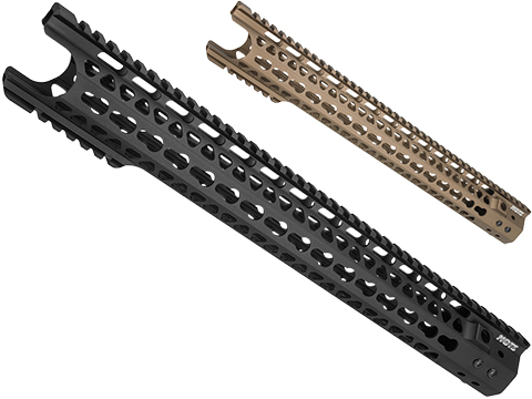 G&P MOTS 16.2 Keymod Breacher Rail System for M4 / M16 Series Airsoft AEG Rifles (Color: Black)