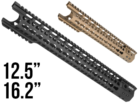 G&P MOTS Keymod Breacher Rail System for M4 / M16 Series Airsoft AEG Rifles (Color: Black / 16.2)
