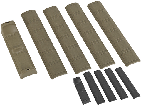 G&P Keymod Panel  Hand Stop w/ Soft Rubber Rail Covers - 5 Pack