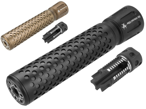 G&P Bio Infected Full Metal QD Mock Silencer with 3 Prong Flashhider (Color: Black)