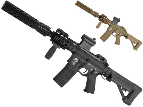 G&P FRS CQB M4 SBR Airsoft Electric Recoil AEG Rifle with QD Barrel Extension
