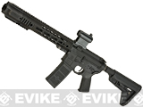 EMG SAI Licensed AR-15 SBR GRY M4 Airsoft AEG Training Rifle with JailBrake Muzzle Device and Red Dot - Magpul Version