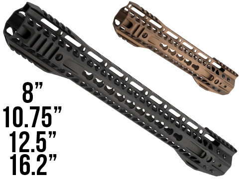 G&P MOTS II Standard Keymod Handguard w/ Rails for M4 / M16 Series Airsoft AEG Rifles