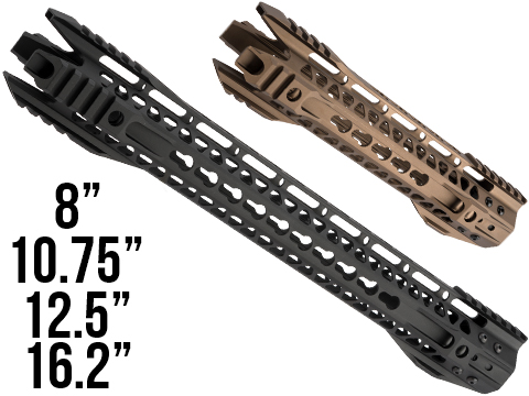 G&P MOTS II Phantom Keymod Handguard w/ Rails for M4 / M16 Series Airsoft AEG Rifles