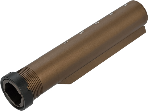 G&P Aluminum Alloy 5 Position Buffer Tuber with Laser Engraved Markings (Color: Sand)