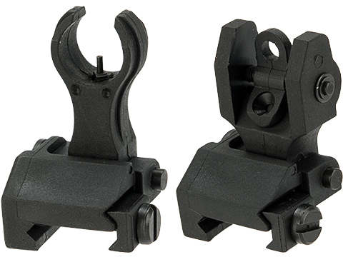 G&P  Polymer Front and Rear Flip-up Sight Combo