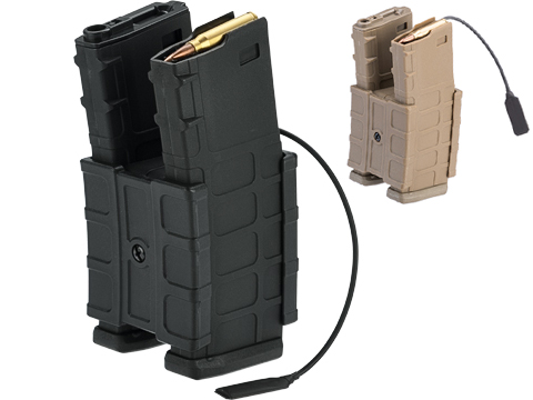 G&P HailStorm Electric Winding 700 Round Dual Polymer Magazine for M4 Series Airsoft AEGs (Color: Black)