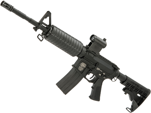 G&P Full Metal Billet Style M4 Carbine AEG w/ LE Stock (Model: Black / Front Wired)