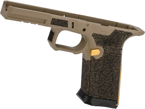 EMG SAI Cerakoted Polymer Frame with Laser Stippling for SAI BLU Gas Blowback Airsoft Pistol (Color: Tan)