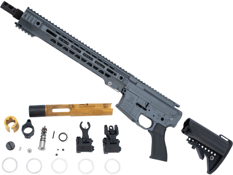 EMG Limited Edition Cerakoted Salient Arms GRY Airsoft Rifle Kit for Marui MWS System Gas Blowback (Length: Carbine / Cerakote Grey)