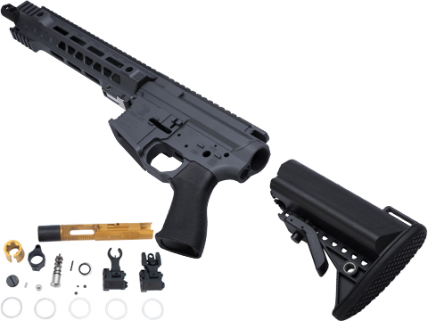 EMG Limited Edition Cerakoted Salient Arms GRY Airsoft Rifle Kit for Marui MWS System Gas Blowback (Length: SBR / Cerakote Grey)