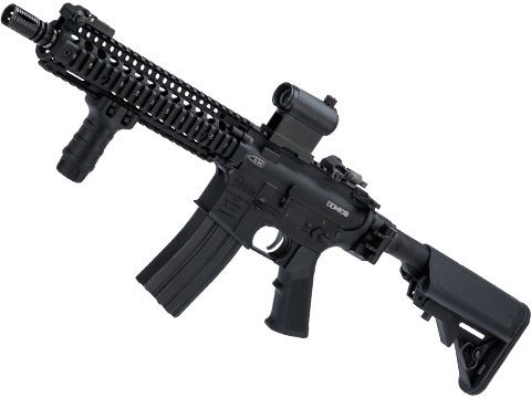 EMG MK18 Custom Airsoft AEG w/ i5 Gearbox and Folding Stock and DD Receiver / Handguard (Color: Black)