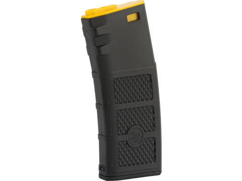 G&P High RPS Polymer Training Magazine for M4 M16 Airsoft AEG Rifles (Type: 130rd Mid-Cap / Black w/ Yellow Lip)