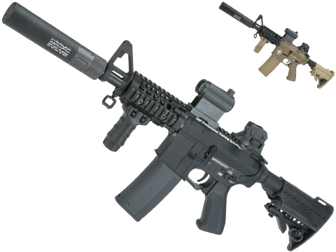 Evike.com G&P Rapid Fire II Airsoft AEG Rifle w/ QD Barrel Extension (Package: Black / Evike)