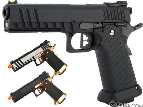 AW Custom Competitor Hi-CAPA Gas Blowback Airsoft Pistol  (Package: Black Ace / Gun Only)