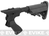 G&P Pistol Grip / M4 Stock Conversion Kit for M870 Series Airsoft Shotguns - Type A / Black