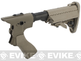 G&P Pistol Grip / M4 Stock Conversion Kit for M870 Series Airsoft Shotguns - Type A / Sand