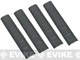 G&P Rubber Panel Type Keymod 6 Rail Covers - Set of 4 (Color: Black)