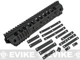 G&P URX III 10.75 Free Float Rail System Kit w/ Rail Kit for M4 / M16 Series Airsoft AEG Rifles - Black