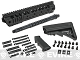 G&P URX III 10.75 Free Float Rail System Kit w/ Golf Ball Furniture for M4 / M16 Series Airsoft AEG Rifles - Black