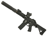 G&P FRS CQB M4 SBR Airsoft Electric Recoil AEG Rifle with Keymod Handguard and QD Barrel Extension - Black (Package: Gun Only)