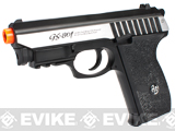 G&G Full Metal GS-801 CO2 Gas Blowback Airsoft Pistol - Silver