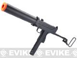 Bone Yard - HFC Full Auto M11A1 / Mac 11 Airsoft Gas Blowback Submachine Gun w/ Mock Silencer (Store Display, Non-Working Or Refurbished Models)