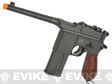 KWC M712 Broomhandle Full-Auto Full Metal Airsoft Co2 Gas Pistol