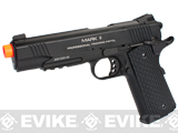 KWA Full Metal M1911 NS2 PTP w/ Railed Frame Airsoft Gas Blowback - MKII / Black