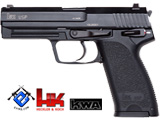 Heckler & Koch / Umarex Full Metal USP Full Size NS2 Airsoft Gas Blowback Gun by KWA - Black