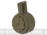 G&P Attack Type Electric Winding 1500 Round M4 Drum Magazine (Color: Flat Dark Earth)