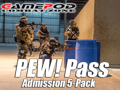 Gamepod Combat Zone Field PEW! Pass