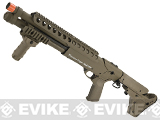 G&P M870 Short Entry RAS CQB High Power Airsoft Shotgun - Desert (w/ $170 Magpul Stock)