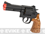 UHC Gas Powered 686 Airsoft Revolver (Length: 4 / Black / Imitation Wood Grip)