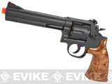 UHC Gas Powered 686 Airosft Revolver (Length: 6 / Black / Imitation Wood Grip)