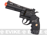UHC Cobra Heavy Weight Gas Powered Revolver (Length: 4 / Black with Black Grips)