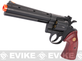 z UHC / TSD Heavy Weight 6 Airsoft Gas Revolver - Black / Rose Wood