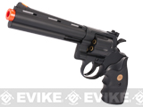 z UHC / TSD Heavy Weight 6 Airsoft Gas Revolver - Black / Black