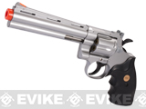 UHC CObra Heavy Weight Gas Powered Revolver (Length: 6 / Silver with Black Grips)