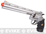 UHC Cobra Heavy Weight Gas Powered Revolver (Length: 8 / Silver with Black Grips)
