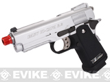 "WE 3.8"" Baby Hi-Capa Full Metal Airsoft Gas Blowback - Silver / Black"
