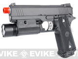 WE-USA Full Metal Hi-CAPA Airsoft Gas Blowback Pistol (Model: 4.3 2011 Commander -Black w/ Green Gas Mag)