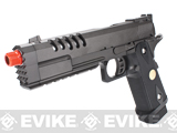 "WE CQB Master Custom Full Metal ""Hyper Strike"" Hi-CAPA Airsoft Gas Blowback Pistol with Diamond Pattern Grip"