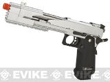 "WE 7"" NG3 Xecelerator Dragon Full Metal Hi-CAPA Airsoft Gas Blowback w/ Ext. barrel - Silver"