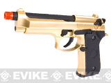 WE Special Bling Edition Full Metal M9 PTP High Power Heavy Weight Airsoft Gas Blowback - 24k Gold