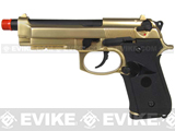 WE Full Metal M9 Elite Military Airsoft Gas Blowback - 24k Gold Plated