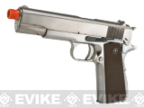 WE-USA NG3 Full Metal 1911 Gas Blowback Airsoft Pistol w/ Threaded Barrel - Silver