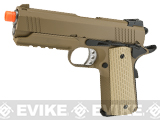 WE-Tech Full Metal 1911 Desert Warrior Socom 4.3 Airsoft Gas Blowback Pistol - Tan (Package: Gun Only)