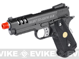 WE Full Metal High Speed Baby Hi-Capa Airsoft Gas Blowback - (Black)